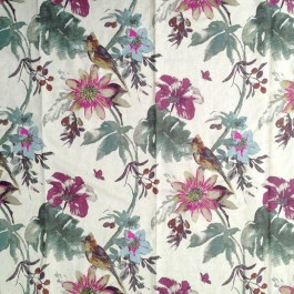 Paradise Found Grape Wine RM Coco Fabric | The Fabric Co