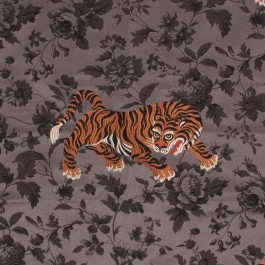 Shere Khan Charcoal RM Coco Fabric | The Fabric Co