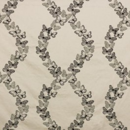 Flight of Fancy Charcoal RM Coco Fabric