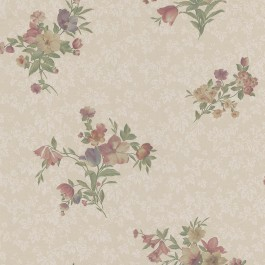 988-58649 Nicolette Taupe Photo Real Floral Wallpaper