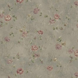992-43542 Alex Olive Delicate Satin Floral Trail Wallpaper