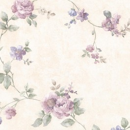 992-44421 Mary Purple Floral Vine Wallpaper