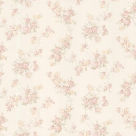 992-68323 Tiffany Blush Satin Floral Trail Wallpaper