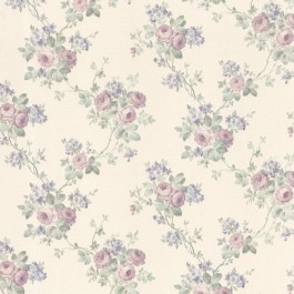 992-68360 Kristin Lavender Rose Trail Wallpaper