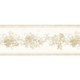 992B07562 Lory Taupe Floral Border