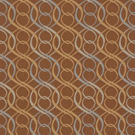 A0318 BLUE BROWN RM Coco Fabric   The Fabric Co
