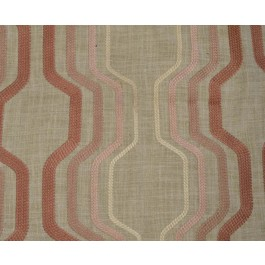 A Cut Above Blush Pink Embroidered Geometric Drapery Swavelle Mill Creek Fabric