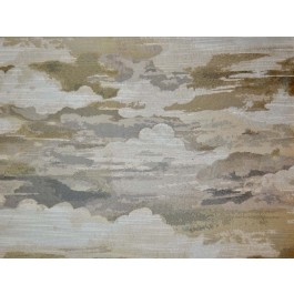Above The Clouds Fog Taupe Grey Metallic Abstract Cloud Upholstery Swavelle Mill Creek Fabric