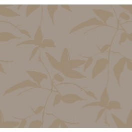AF6512 Gold, Taupe Persimmon Leaf Wallpaper | The Fabric Co