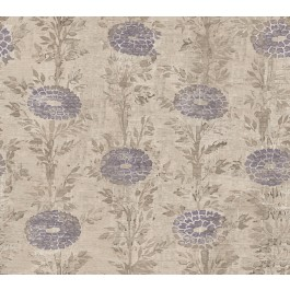 AF6518 Tan, Purple French Marigold Wallpaper | The Fabric Co