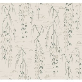 AF6583 Green Willow Branches Wallpaper | The Fabric Co