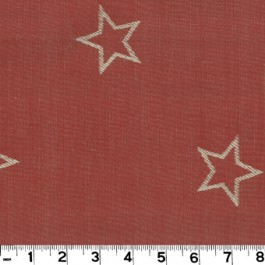 All Star D2898 Red Roth & Tompkin Fabric