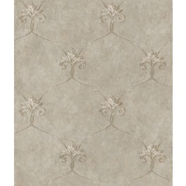 ARS26164 Tuscan Taupe Shimmering Ogee Wallpaper