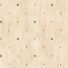 BBC09068 Marge Wheat Star Sprigs Toss Wallpaper