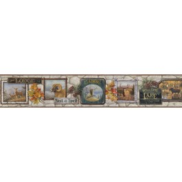 BBC48561B John Grey Signage Trail Wallpaper Border