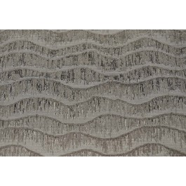 Calming Effect Platinum Grey Woven Chenille Wavy Geometric Upholstery Swavelle Mill Creek Fabric
