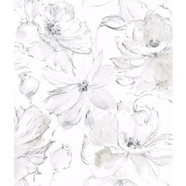 CL2520 Gray Floral Dreams Wallpaper | The Fabric Co