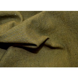Olive Green Denim Upholstery Classic Marina Golding Fabric