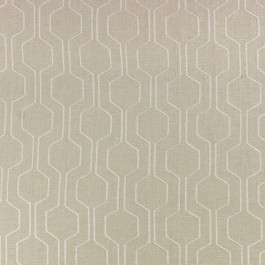 Climber Bisque Tan Cream Embroidered Geometric Richloom Fabric