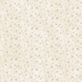 CTR44004 Shelby Blue Calico Floral Wallpaper