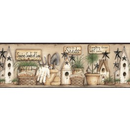 CTR63123B Harlow Black Everything Grows With Love Wallpaper Border
