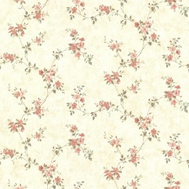 CTR64193 Rose Valley Pink Floral Trail Wallpaper