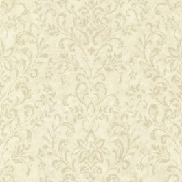 CTR663413 Presley Sand Country Damask Wallpaper