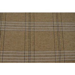 Director Pecan Light Brown Woven Plaid Upholstery Swavelle Mill Creek Fabric
