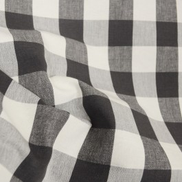DL74 Lyme Charcoal Check Plaid Fabric