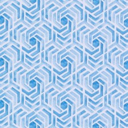 Blue Geometric Print DP61710 11 Turquoise Duralee Fabric