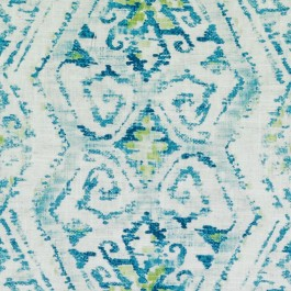 Teal Blue Green Contemporary Tribal Geometric Print DP61720 11 Turquoise Duralee Fabric