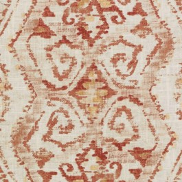 Red Orange Contemporary Tribal Geometric Print DP61720 192 Flame Duralee Fabric