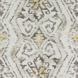 Taupe Yellow Contemporary Tribal Geometric Print DP61720 486 Sahara Duralee Fabric