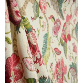 Finders Keepers Raspberry Floral Fabric