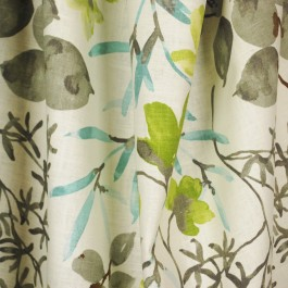 Gazebo Cloud Tropical Floral Drapery Fabric