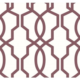 GM7520 Red Hourglass Trellis Wallpaper | The Fabric Co