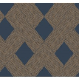GM7540 Navy Beveled Edge Wallpaper | The Fabric Co