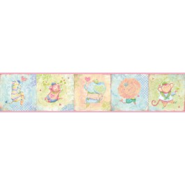 HAS01032B Lucie's Pink Circus Border