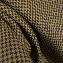 D2123 Houndstooth Black Upholstery Fabric