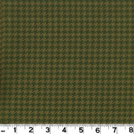 Houndstooth D2124 Olive Roth & Tompkin Fabric
