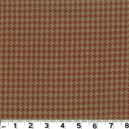 Houndstooth D2923 Brick Roth & Tompkin Fabric