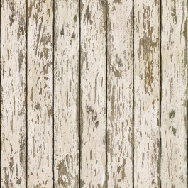 HTM13282 Grendel White Faux Weathered Wood Wallpaper