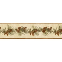 HTM48401B Bubba Red Pine Boughs Trail Border