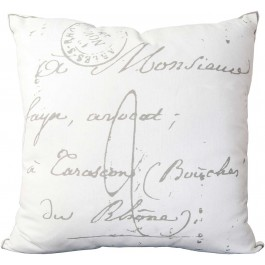 LG512-1818P Classical French Script Pillow