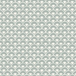 MK1151 Stacked Scallops  Blue Wallpaper | The Fabric Co