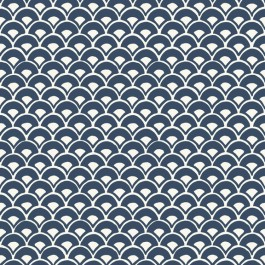 MK1156 Stacked Scallops  Blue Wallpaper   The Fabric Co