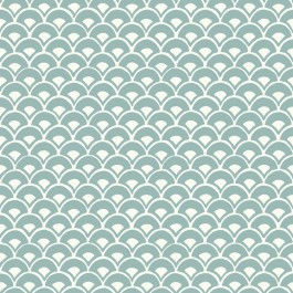 MK1157 Stacked Scallops  Blue Wallpaper   The Fabric Co