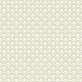 MK1158 Stacked Scallops  Beige Wallpaper | The Fabric Co