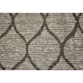 Modern Movement Stone Dark Taupe Grey Heavy Chenille Trellis Upholstery Latex Backed Swavelle Mill Creek Fabric