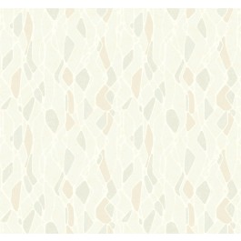 NA0508 Beige Stained Glass Wallpaper | The Fabric Co